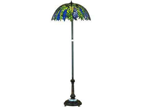 Meyda Tiffany Honey Locust Multi-Color Floor Lamp