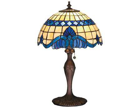 Meyda Tiffany Baroque Multi-Color Accent Table Lamp