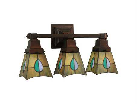 Meyda Tiffany Mackintosh Leaf Three-Light Vanity Light
