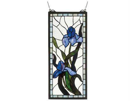 Meyda Tiffany Iris Stained Glass Window