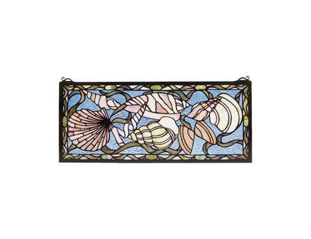 Meyda Tiffany Seashell Stained Glass Window