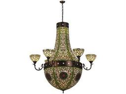 Meyda Tiffany Grand Tulip Medallion 6 Arm 14-Light 60 Wide Grand Chandelier