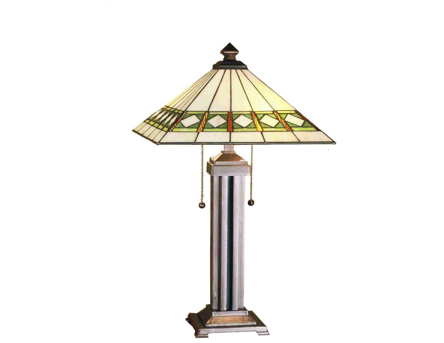 meyda tiffany diamond mission multi color table lamp my38689. Black Bedroom Furniture Sets. Home Design Ideas