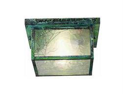 Meyda Tiffany Hyde Park Spider Web Two-Light Flush Mount Light