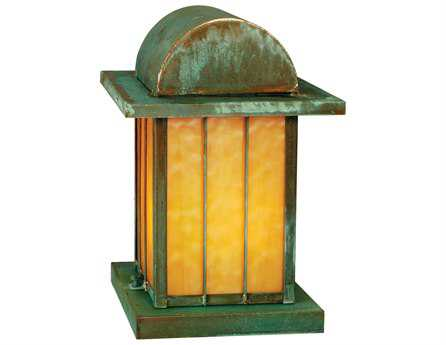 Meyda Tiffany Clinton Arch Lantern Beige Verd Outdoor Pier Mount Light