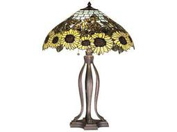 Meyda Tiffany Wild Sunflower Multi-Color Table Lamp