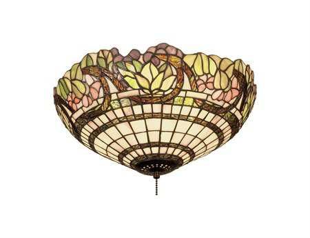 Meyda Tiffany Handel Grapevine Three-Light Flush Mount Light