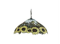 Meyda Tiffany Wild Sunflower Three-Light Pendant