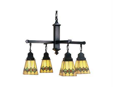 Meyda Tiffany Martini Mission Four-Light 26 Wide Grand Chandelier
