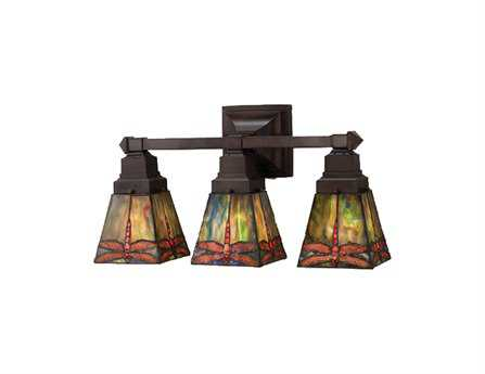 Meyda Tiffany Prairie Dragonfly Three-Light Vanity Light