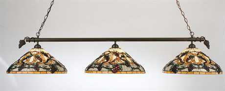 Meyda Tiffany Jeweled Grape Three-Light Island Light
