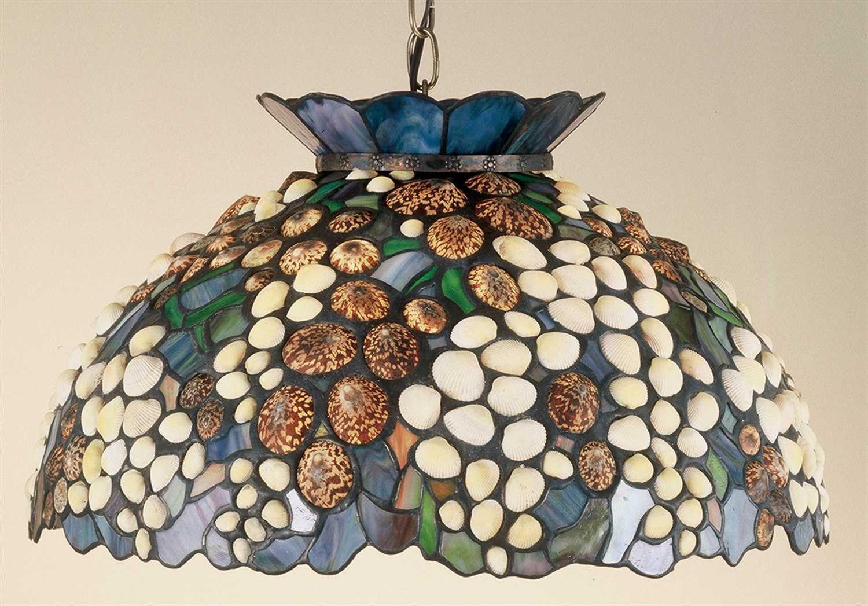 meyda tiffany seashell three light pendant my49286
