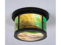 Meyda Tiffany Craftsman Two-Light Flush Mount Light