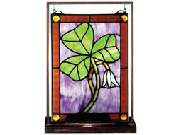 Meyda Tiffany Shamrock Lighted Mini Tabletop Window