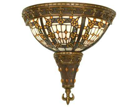 Meyda Tiffany Fleur-De-Lis Two-Light Wall Sconce