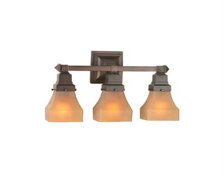 Meyda Tiffany Bungalow Frosted Amber Three-Light Vanity Light