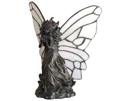 Meyda Tiffany Pearl Winged Fairy Multi-Color Accent Table Lamp