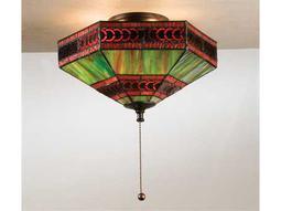 Meyda Tiffany Cambridge Three-Light Flush Mount Light