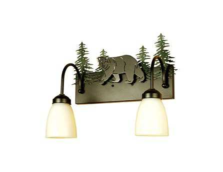 Meyda Tiffany Northwood's Lone Bear Two-Light Vanity Light