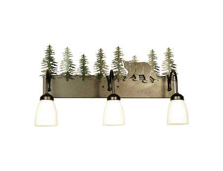 Meyda Tiffany Northwood's Lone Bear Three-Light Vanity Light