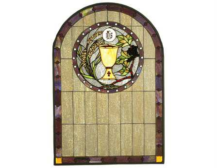 Meyda Tiffany Sacrament Stained Glass Window