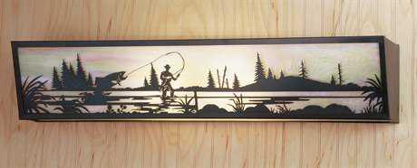 Meyda Tiffany Fly Fishing Creek Four-Light Vanity Light