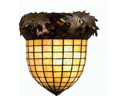 Meyda Tiffany Greenbriar Oak Wall Sconce