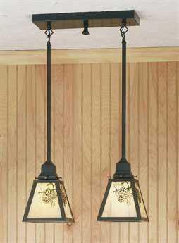 Meyda Tiffany Winter Pine Two-Light Island Light