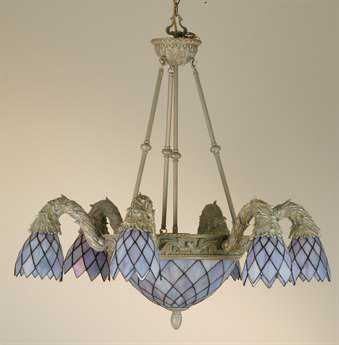 Meyda Tiffany Diamond Garland 6 Arm Nine-Light 36 Wide Chandelier