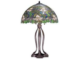 Meyda Tiffany Trillium & Violet Multi-Color Table Lamp