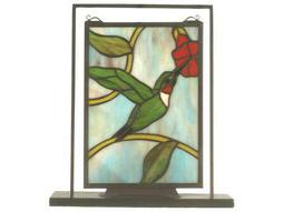 Meyda Tiffany Hummingbird Lighted Mini Tabletop Window