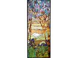 Meyda Tiffany Magnolia & Iris Stained Glass Window