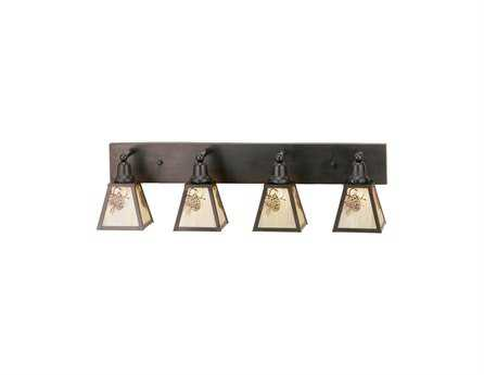 Meyda Tiffany Winter Pine Four-Light Vanity Bar Light