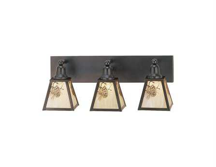 Meyda Tiffany Winter Pine Three-Light Vanity Bar Light