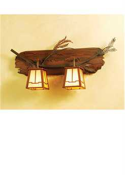 Meyda Tiffany Pine Branch Valley View Two-Light Vanity Light