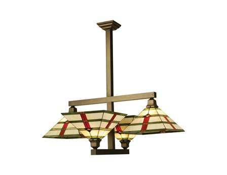 Meyda Tiffany Prairie Arrowhead Four-Light Semi-Flush Mount Light
