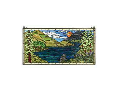 Meyda Tiffany Sunset Meadow Stained Glass Window