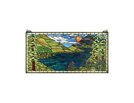 Meyda Tiffany Sunset Meadow Stained Glass Window