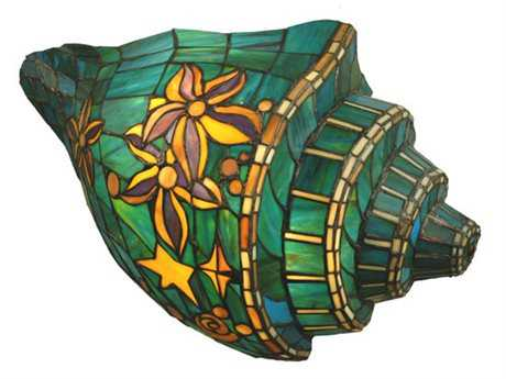 Meyda Tiffany Seashell Conch Two-Light Wall Sconce