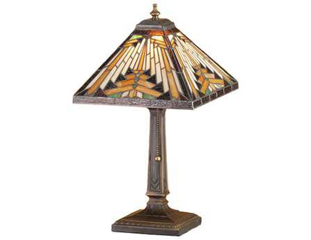 Meyda Tiffany Nuevo Mission Multi-Color Accent Table Lamp