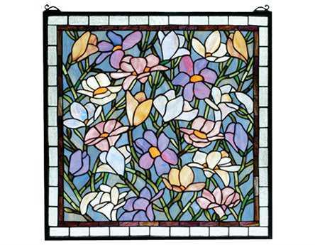 Meyda Tiffany Sugar Magnolia Stained Glass Window