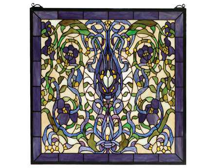 Meyda Tiffany Floral Fantasy Stained Glass Window