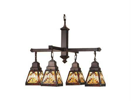 Meyda Tiffany Nuevo Mission Four-Light 26 Wide Grand Chandelier