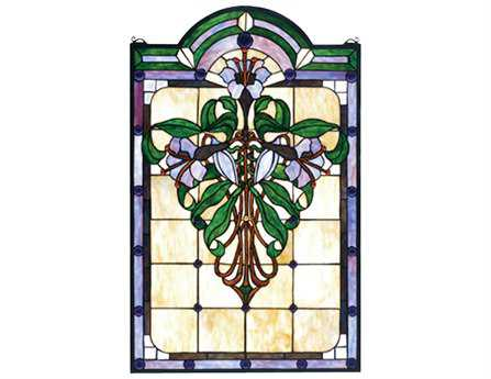 Meyda Tiffany Nouveau Lily Stained Glass Window