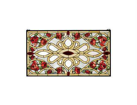 Meyda Tiffany Bed of Roses Stained Glass Window