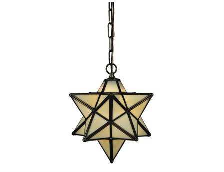 Meyda Tiffany Moravian Star Beige Mini-Pendant