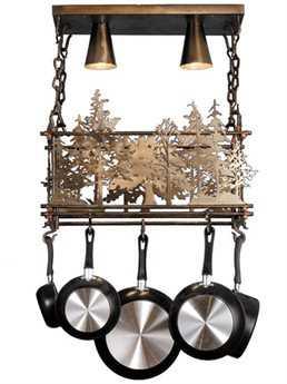Meyda Tiffany Forest Two-Light Pot Rack