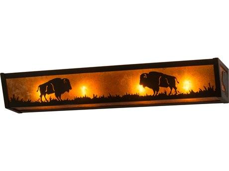 Meyda Tiffany Buffalo Four-Light Vanity Light