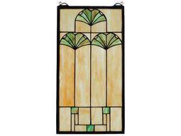 Meyda Tiffany Ginkgo Stained Glass Window