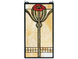 Meyda Tiffany Parker Poppy Stained Glass Window